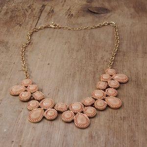 Stunning Pink Glass Cabochon Statement Necklace
